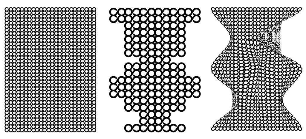 Trzy projekty sitrodruku przygotowane przez kolektyw Kwiaciarnia Grafiki na Co Jest Grane 24 Festival / Kwiaciarnia Grafiki
