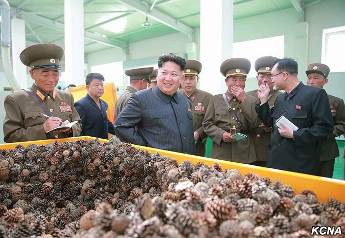 Kim Dzong Un podczas inspekcji