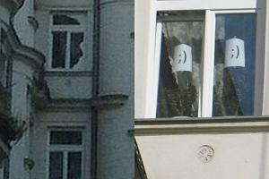 Okno w mieszkaniu Lecha Kaczyńskiego.