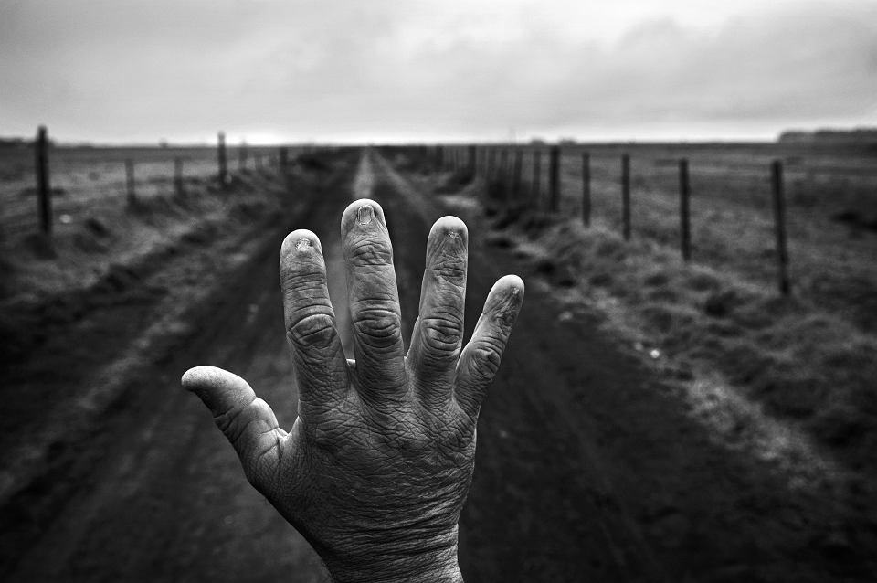 Monte Maiz, Cordoba. Alfredo Ceran przez 9 lat rozprowadzał chemikalia po polach, czasem przez 15 godzin dziennie. Macierz w jego paznokciach się spaliła. Cierpi na niealkoholową marskość wątroby i zwyrodnienie trzech kręgów, w ciągu roku schudł 45 kilo. Badanie na obecność pestycydów we krwi pokazały, że ma pozostałości m.in. glifosatu. Mówi, że w 2005 r. używał litra glifosatu na przestrzeń, na którą dziś zużywa się 5 litrów
