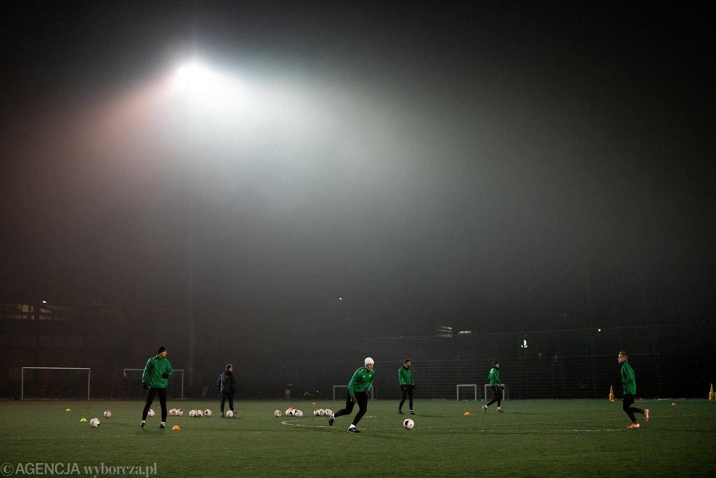 Trening piłkarzy Górnika Łęczna