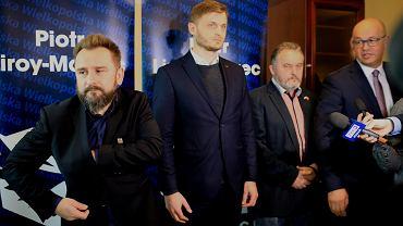 Wybory do europarlamentu 2019. Piotr Liroy-Marzec na konferencji prasowej w Poznaniu