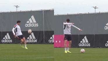Robert Lewandowski na treningu Bayernu Monachium