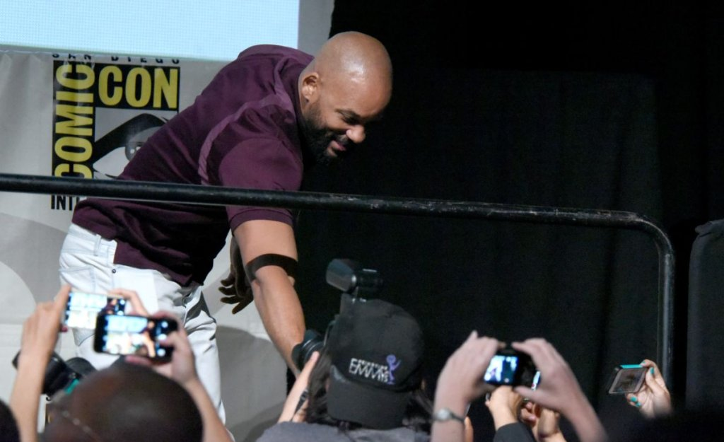 Will Smith na panelu Comic Con promującym