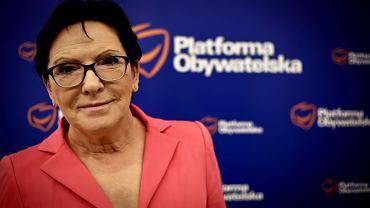 EWA KOPACZ, była premier, pierwsza wiceprzewodnicząca Platformy Obywatelskiej