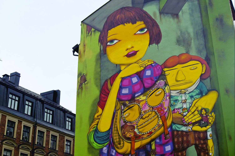 Mural w dzielnicy Södermalm (fot. Daniel Tubylewicz)