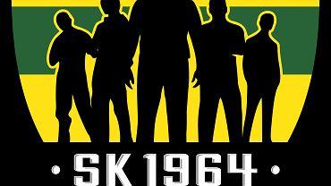 """Logo Stowarzyszenia Kibiców GKS Katowice """"SK1964"""""""