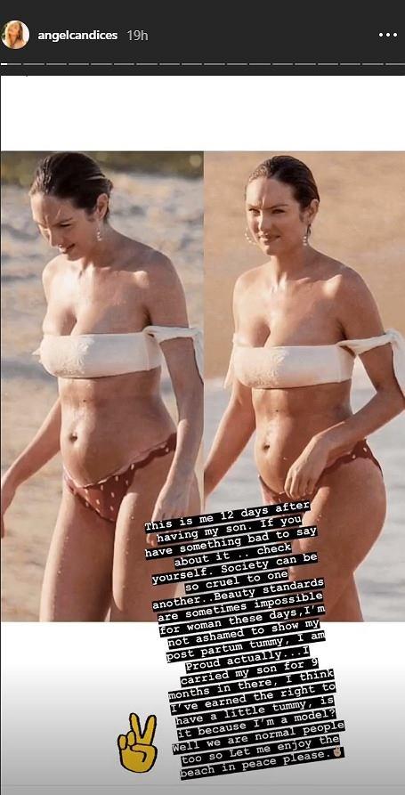 Candice Swanepoel 12 dni po porodzie