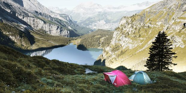 Namiot w górach