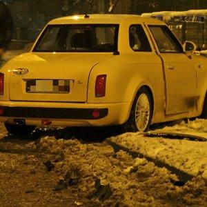 Wypadek z udziałem prototypu Syreny przy ul. Wałbrzyskiej