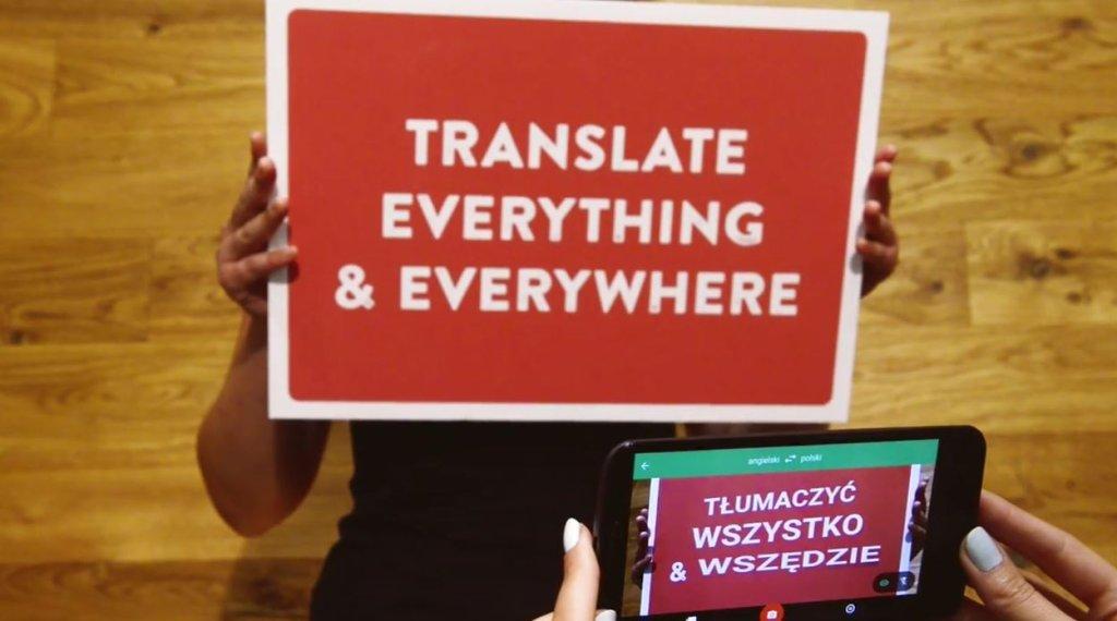 Tłumacz Google tłumaczy napisy, mowę i odręczne pismo
