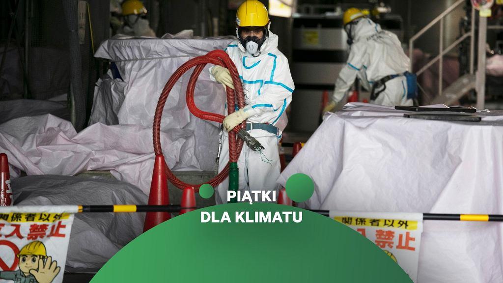 10. rocznica awarii w elektrowni Fukushima. Pracownicy w oczyszczalni wody z zniszczonej elektrowni