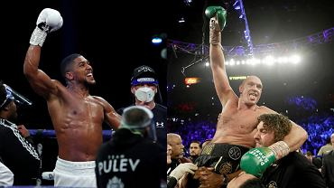 Tyson Fury (p.) i Anthony Joshua (l.)