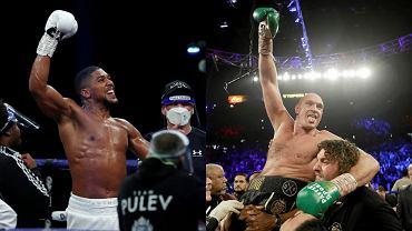Tyson Fury (p.) i Anthony Joshua (l.)