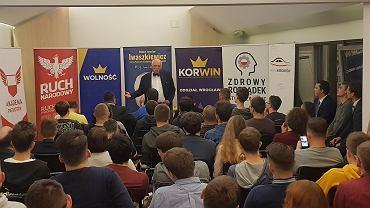 Na spotkanie z kandydatem w eurowyborach 2019 przyszło około 60 osób.