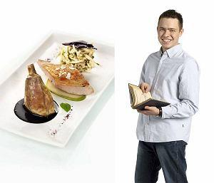 Perliczka z domowym makaronem i sosem kasztanowym