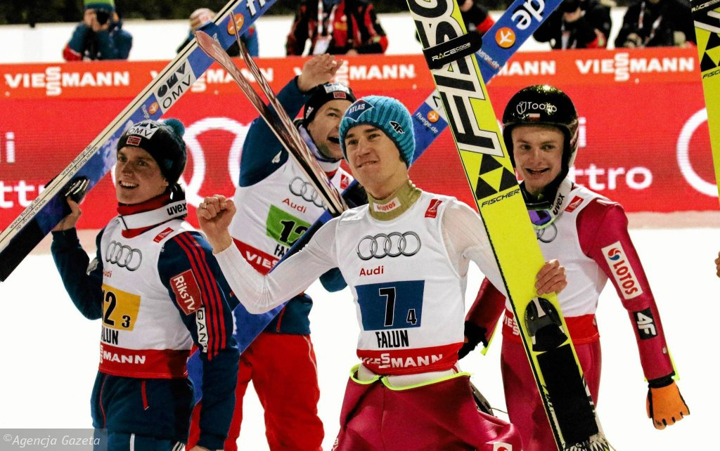 Anders Fannemel, Anders Jacobsen, Kamil Stoch, Jan Ziobro