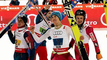 Anders Fannemel, Anders Jacobsen, Kamil Stoch, Jan Ziobro