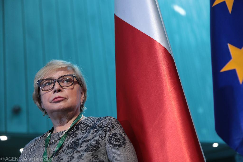 Ostatnia konferencja prasowa pierwszej prezes Sądu Najwyższego. Prof. Małgorzata Gersdorf kończy kadencję. Warszawa, 30 kwietnia 2020