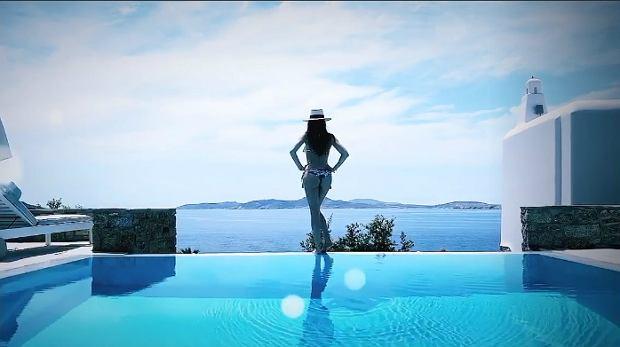Marina Łuczenko-Szczęsna odpoczywa na Mykonos