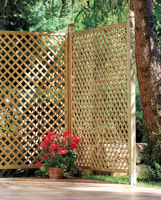 Ażurowy parawan ogrodowy