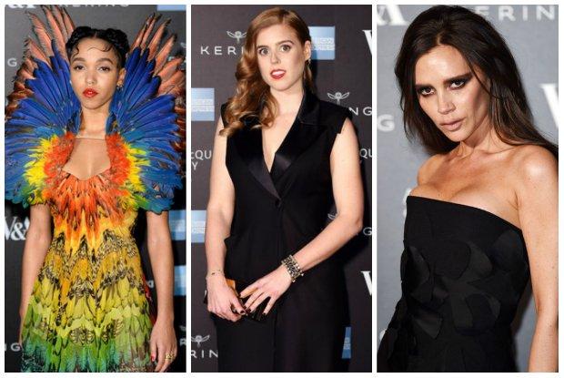 """Wielki sukces La Manii! Gwiazdy na otwarciu wystawy Alexander McQueen """"Savage Beauty"""" w Londynie, w tym dwie ubrane przez Joannę Przetakiewicz"""
