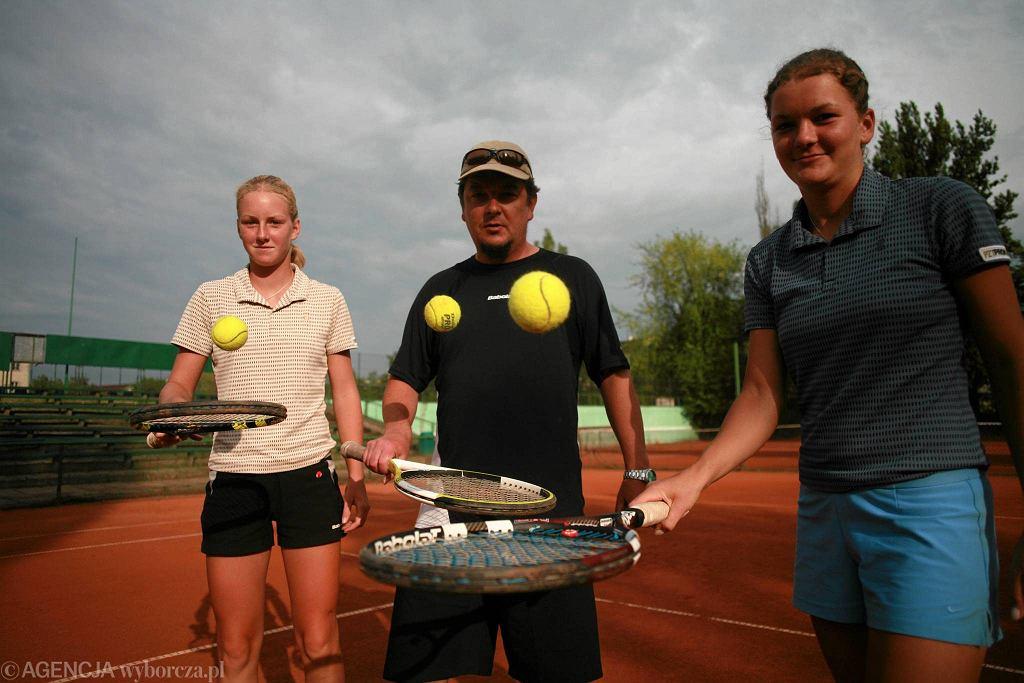 Robert Radwański z córkami - Urszulą i Agnieszką