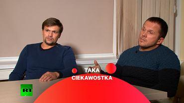 Dwaj rosyjscy 'turyści', którzy według brytyjskich władz otruli Siergieja Skripala. Agencji jednostki 29155 Aleksander Miszkin i Anatolij Czepiga