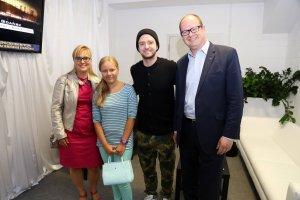 Justin Timberlake, Piotr Adamowicz z rodziną