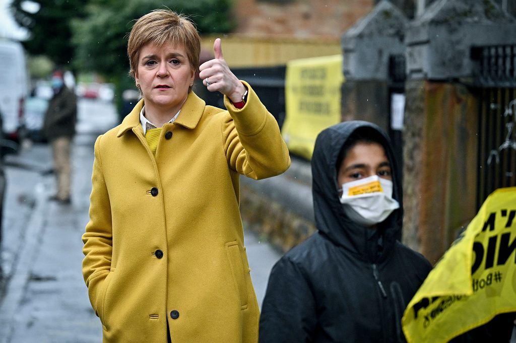 Nicola Sturgeon, pierwsza minister, liderka Szkockiej Partii Narodowej
