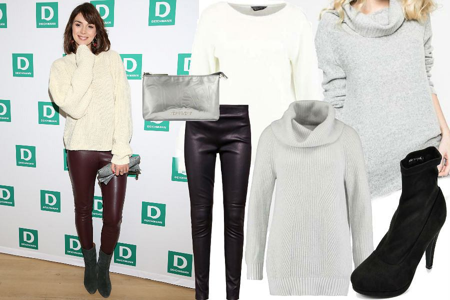 fot. WBF/ zimowa stylizacja ze swetrem