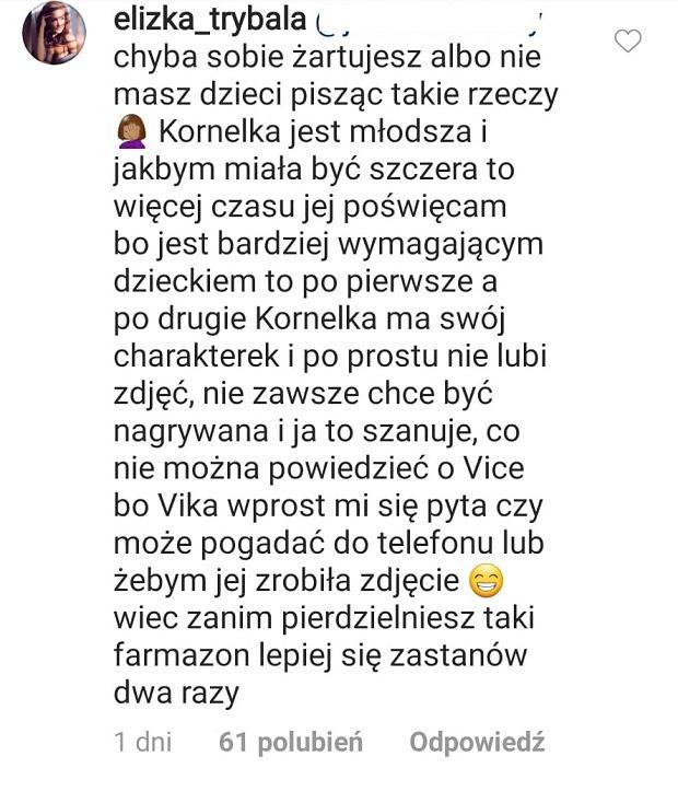 Komentarz Elizy Trybały