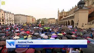 Wizyta Andrzeja Dudy w Krakowie - materiał w 'Wiadomościach' TVP