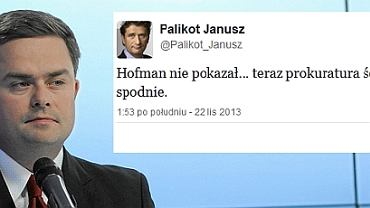 Adam Hofman i wpis Janusza Palikota na Twitterze