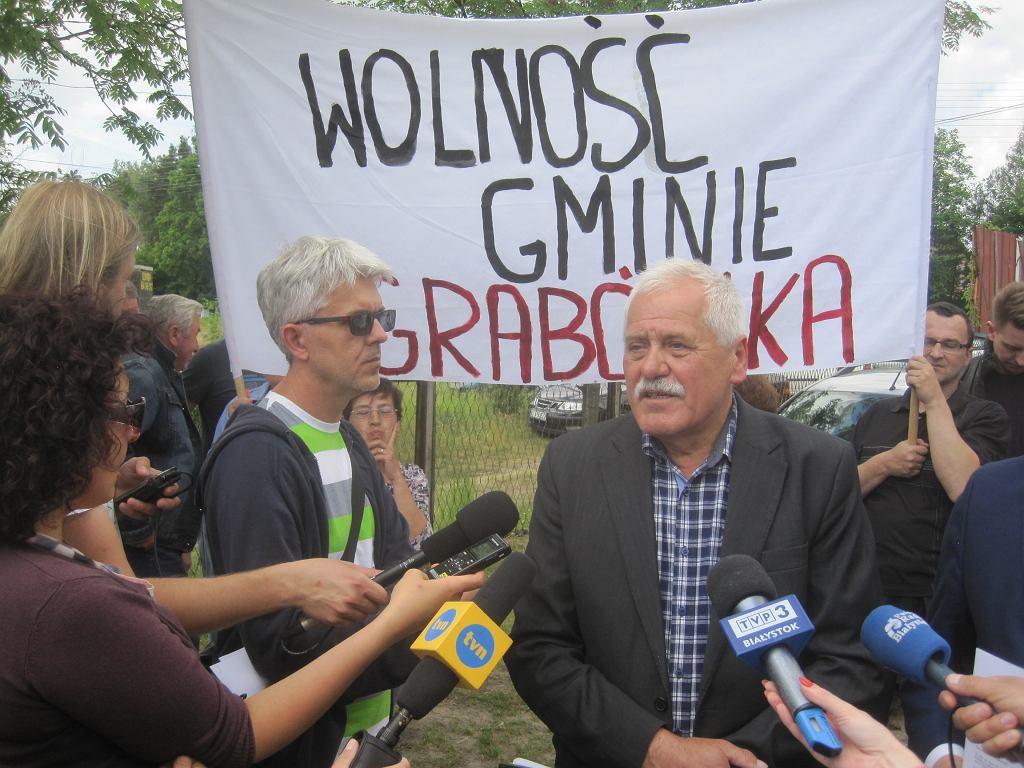 Konferencja prasowa w Grabówce