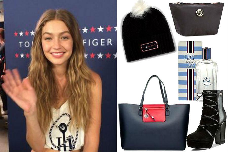 Gigi Hadid w ubraniach Tommy Hilfiger