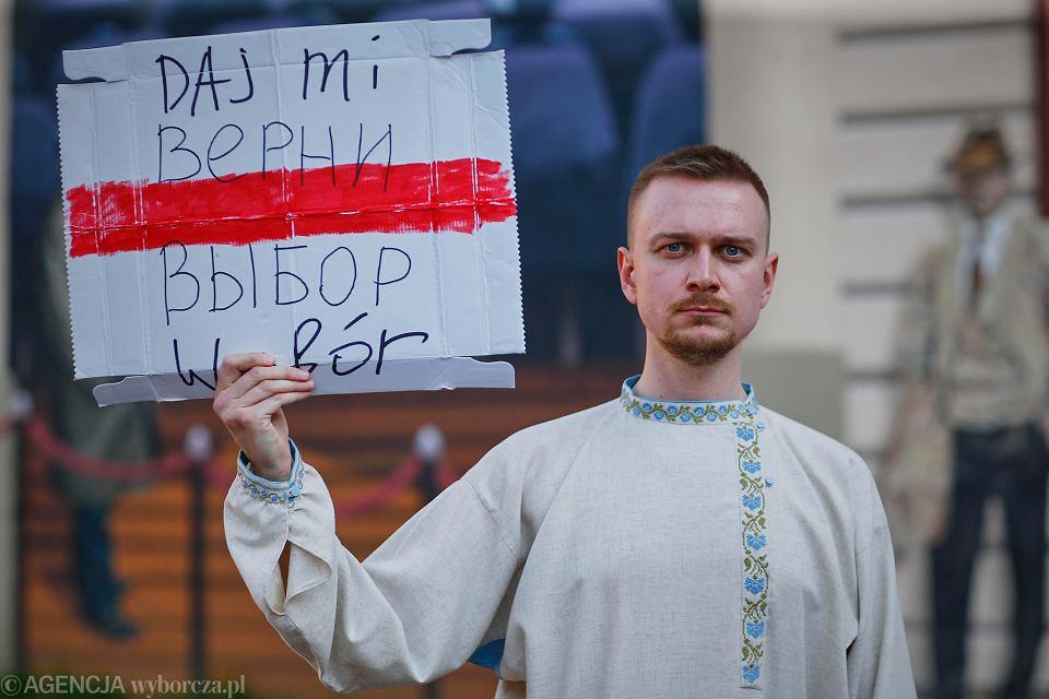 Igor Jurczyk, jeden z liderów ruchu Białorusini w Łodzi, który powstał po tegorocznych wyborach prezydenckich na Białorusi