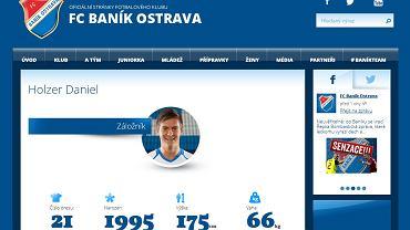 Daniel Holzer na stronie Banika Ostrava