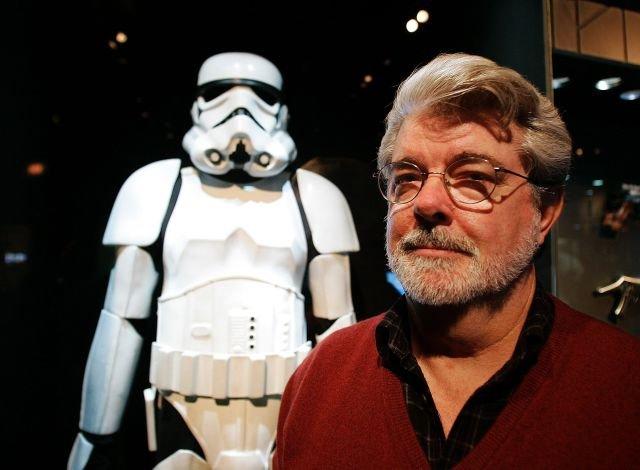 George Lucas z kostiumem szturmowca