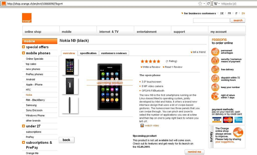 Nokia N9 w sklepach od września tego roku?
