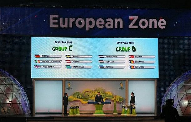 Losowanie grup eliminacyjnych Mistrzostw Świata w 2014 roku