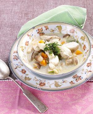 Zupa z sandacza z borowikami