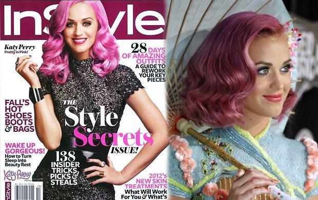 Różowa Katy Perry na okładce InStyle