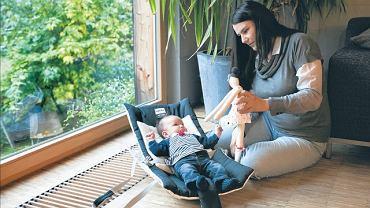 Joanna Wużyk ze swoim czwartym dzieckiem, 9-tygodniową córką Różą, którą urodziła naturalnie w szpitalu im. Ludwika Rydygiera w Krakowie