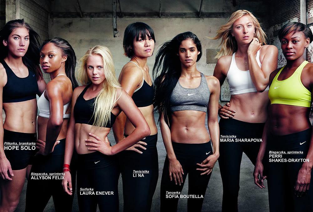 Dziewczyny w stanikach sportowych Nike