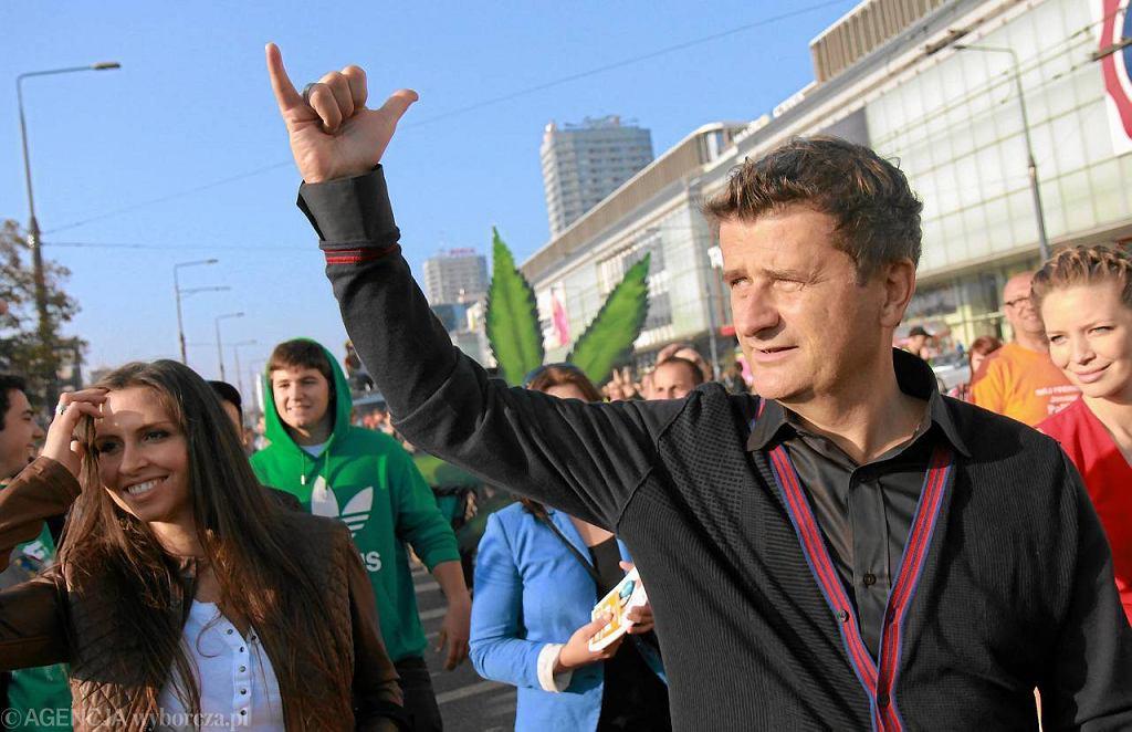 Janusz Palikot na Marszu Wyzwolenia Konopi w Warszawie - 1 października 2011 r.