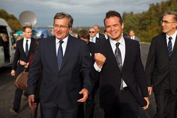 [28.09.2011]Prezydent na budowie drogi ekspresowej S7 Południowej Obwodnicy Gdańska.