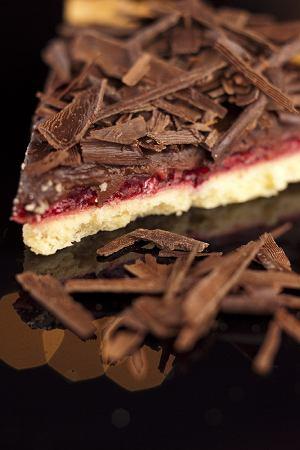 Tarta czekoladowo-malinowa
