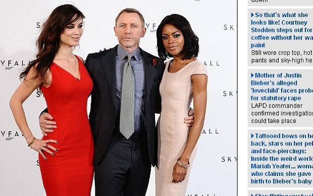Bérénice Marlohe, Daniel Craig, Naomie Harris.