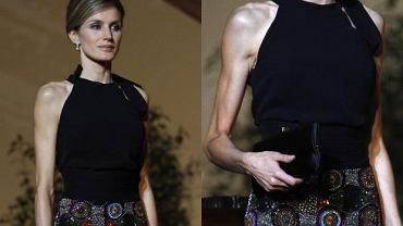 Hiszpańska księżniczka Letizia w niczym nie przypomina już tej pięknej i posiadającej apetyczne kształty kobiety, która w 2005 roku poślubiła jednego z najbardziej pożądanych kawalerów w Europie - hiszpańskiego księcia Filipa. Była dziennikarka podbiła serca Europejczyków swoją urodą i bezpośredniością. Urodziła dwie córki - w 2005 roku Leonorę, a w 2007 Sofię. Od pewnego czasu światowe media zastanawiają się, co się dzieje z sympatyczną księżną. Tym razem wraz z mężem odwiedzili Chile, gdzie wzięli udział w kilku oficjalnych uroczystościach. Letizia jest coraz chudsza. Jej ramiona i nogi to sama skóra i kości. Nie słychać o żadnych skandalach na dworze królewskim, nikt nikogo nie zdradza, zdają się tworzyć z księciem Filipem naprawdę zgodną i szczęśliwą parę - Letizia chyba nie ma wielu zmartwień. Więc co się dzieje? Mamy nadzieję, że księżniczka po prostu troszkę przytyje.